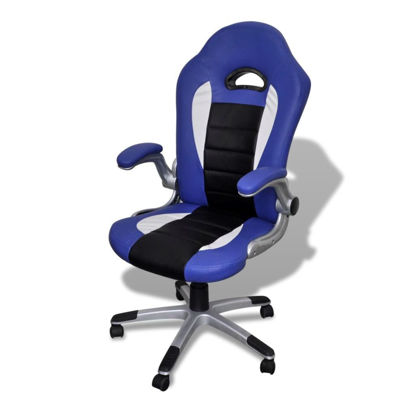 Picture of Modern Design Office Chair - Artificial Leather Blue