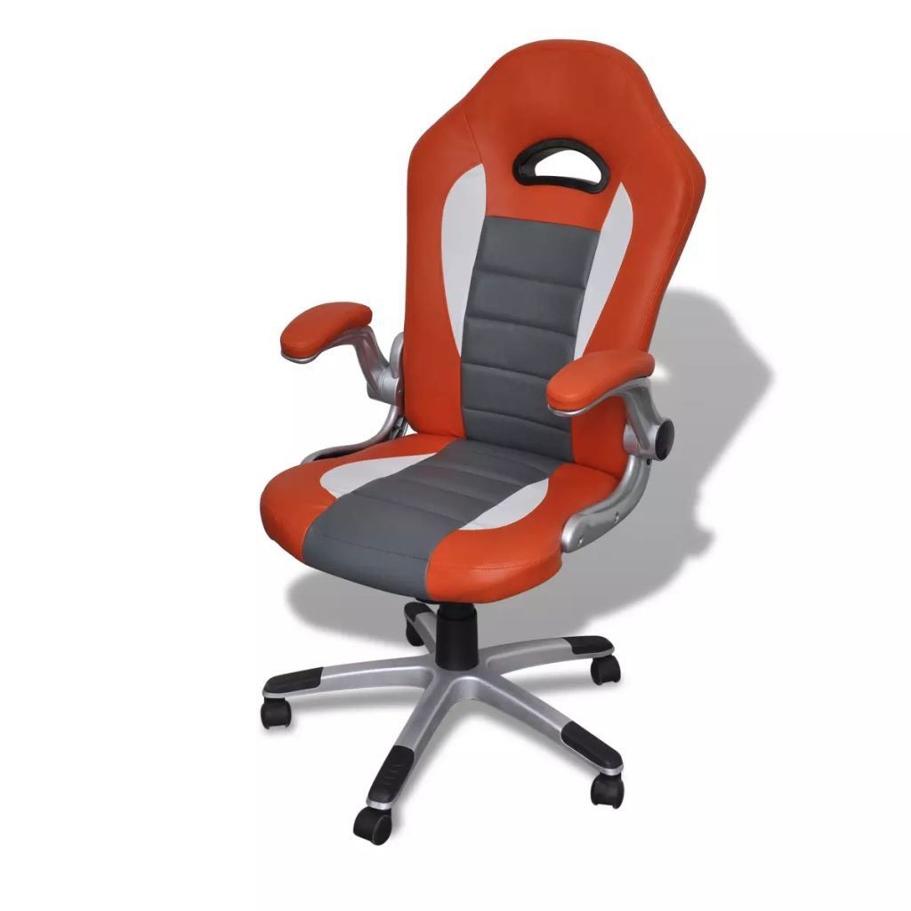 Picture of Modern Design Office Chair - Artificial Leather Orange