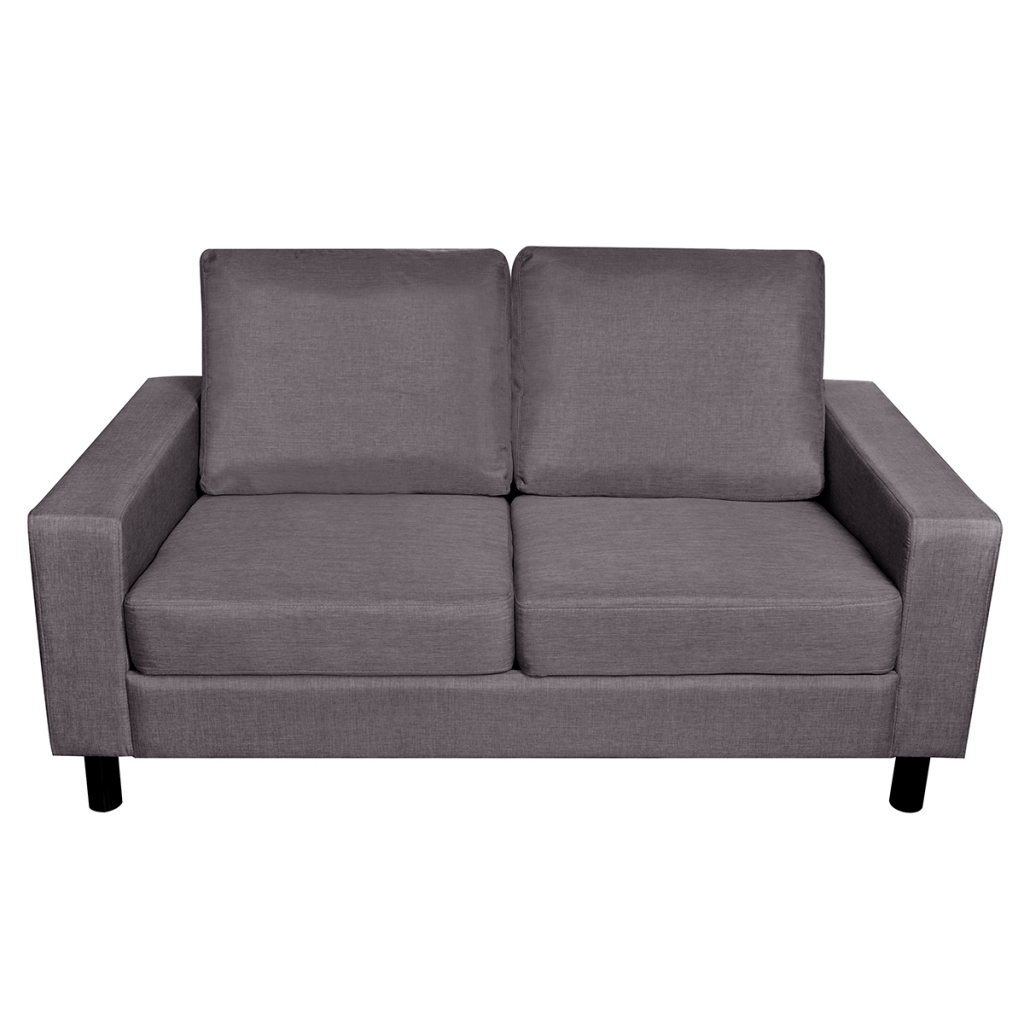 Picture of Modern Fabric Upholstery 2-Seater Sofa Couch - Dark Gray
