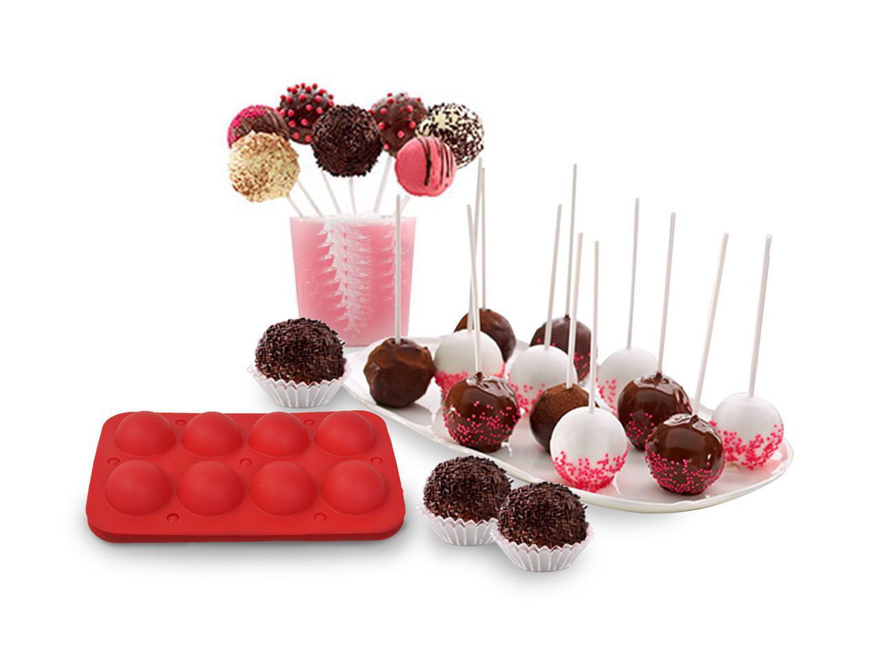 Picture of Mold Tray Silicone Baking Cake Pops Flex Pan Decorate 8 Cup