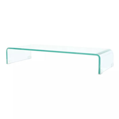 """Picture of Monitor Riser/TV Stand 31"""" - Glass Clear"""