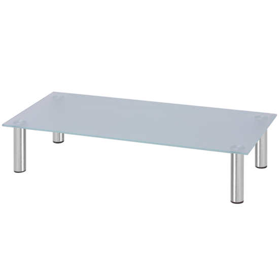 """Picture of Monitor Riser/TV Stand 31"""" - Glass White"""