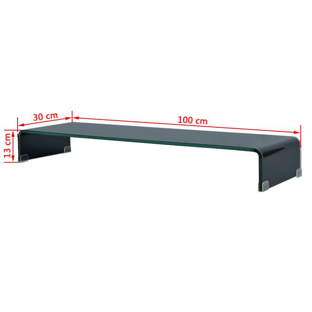"Picture of Monitor Riser/TV Stand 39"" - Glass Black"