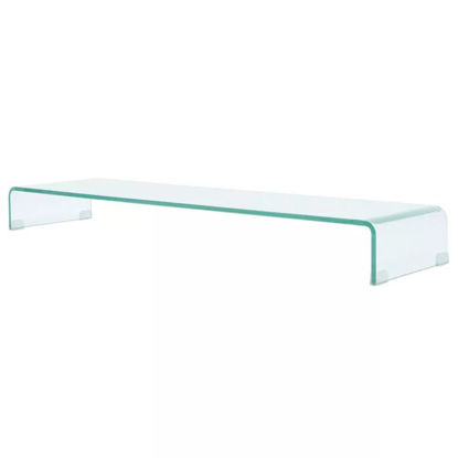 """Picture of Monitor Riser/TV Stand 47"""" - Glass Clear"""