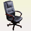 Picture of Office Chair Artificial Leather Height Adjustable - Black