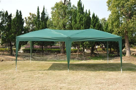 Picture of Outdoor 10' x 20' Easy Pop Up Canopy Tent - Green with 4 Removable Sidewalls