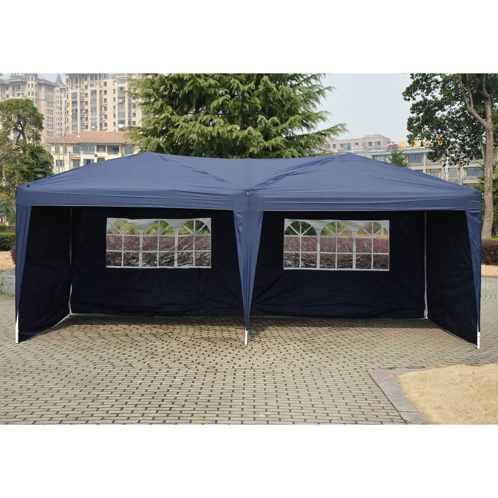 Picture of Outdoor10' x 20' Easy Pop Up Canopy Tent Blue