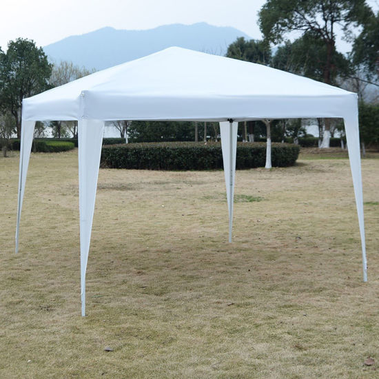 Picture of Outdoor 10'x10' EZ Pop Up Tent Gazebo Canopy - White