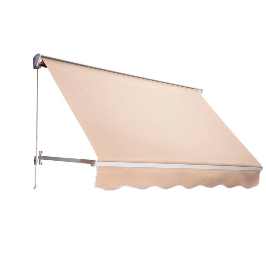 Picture of Outdoor Arm Manual Retractable Window Awning 6' Drop - Cream