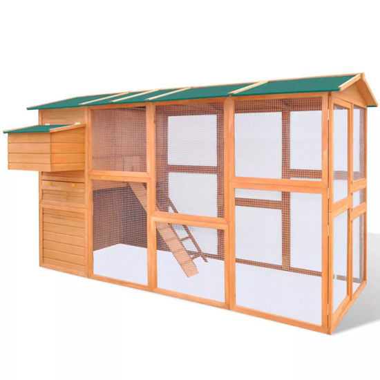 "Picture of Outdoor 116"" Wooden Chicken Coop"