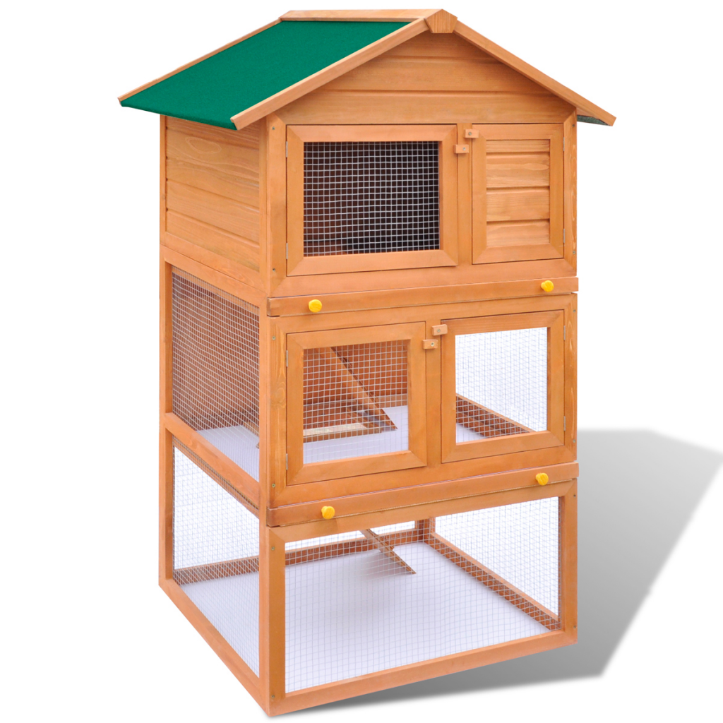 "Picture of Outdoor 3 Layer 32"" Chicken Coop"