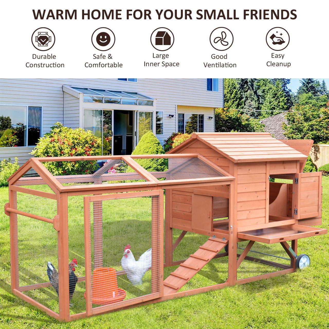 """Picture of Outdoor Chicken Coop - 98"""""""