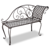 Picture of Outdoor Bench Metal Chaise Lounge Antique Scroll-patterned - Brown