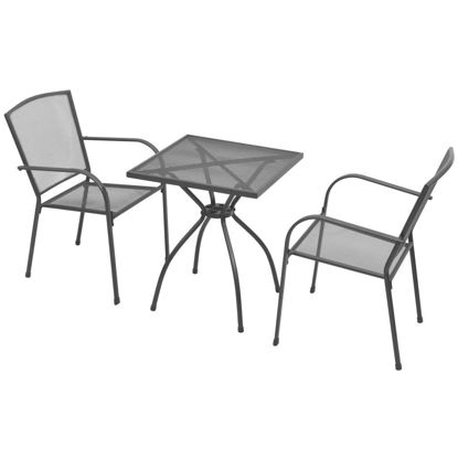 Picture of Outdoor Bistro Set 3pc - Steel Mesh