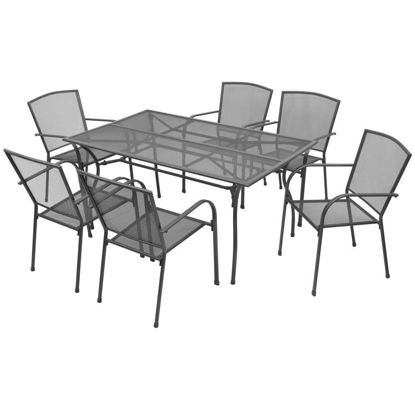 Picture of Outdoor Bistro Set 7pc - Steel Mesh