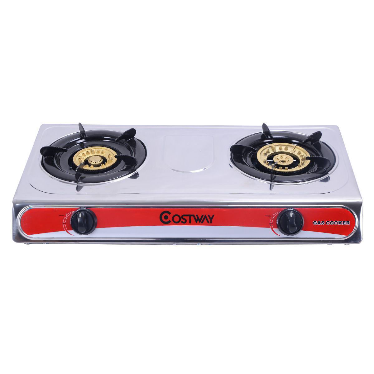Picture of Outdoor Camping Kitchen Gas Stove with 2 Burners