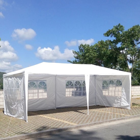 Picture of Outdoor Canopy Tent Heavy Duty Gazebo 10' x 20' - White