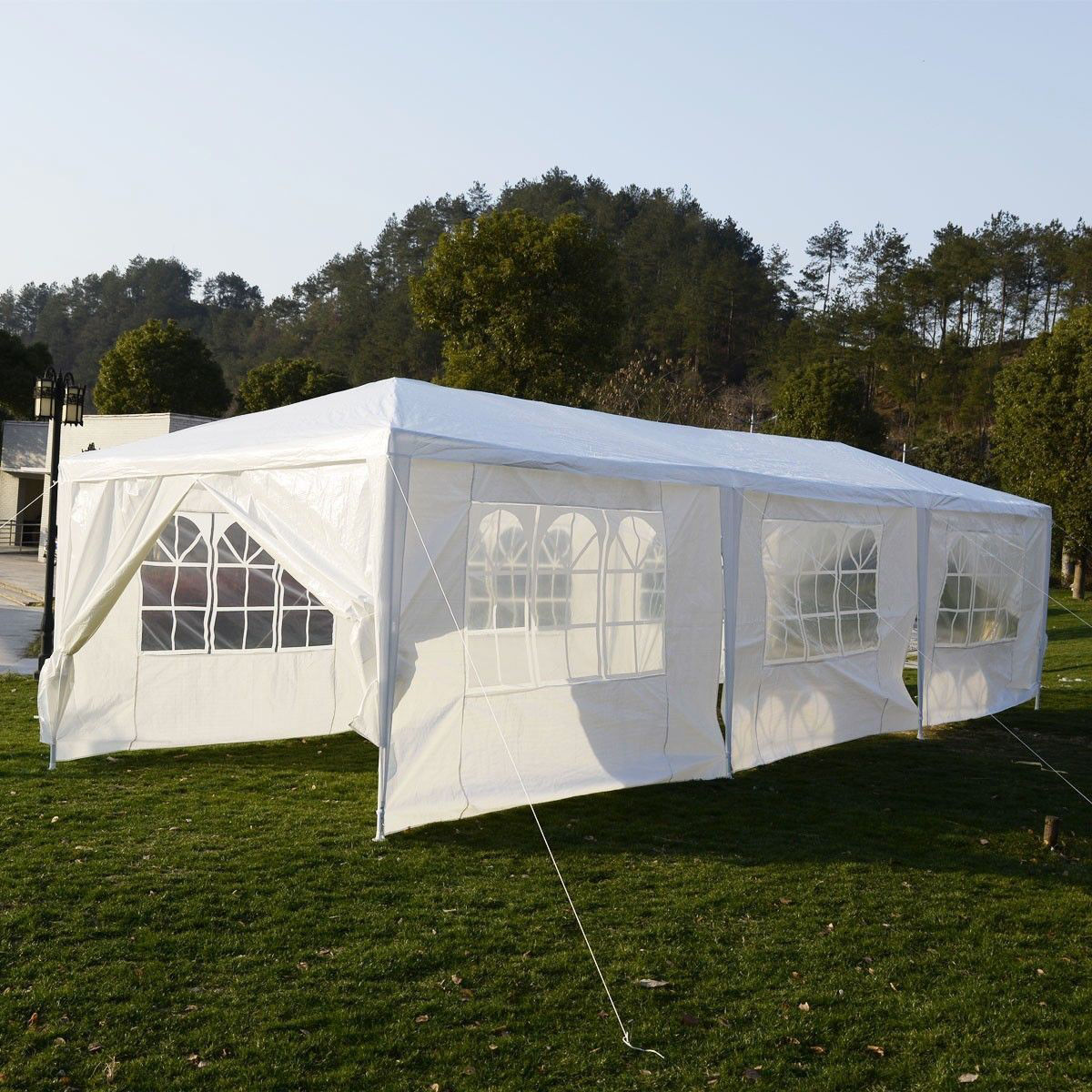 Picture of Outdoor Canopy Wedding Tent Heavy Duty Gazebo 10' x 30'