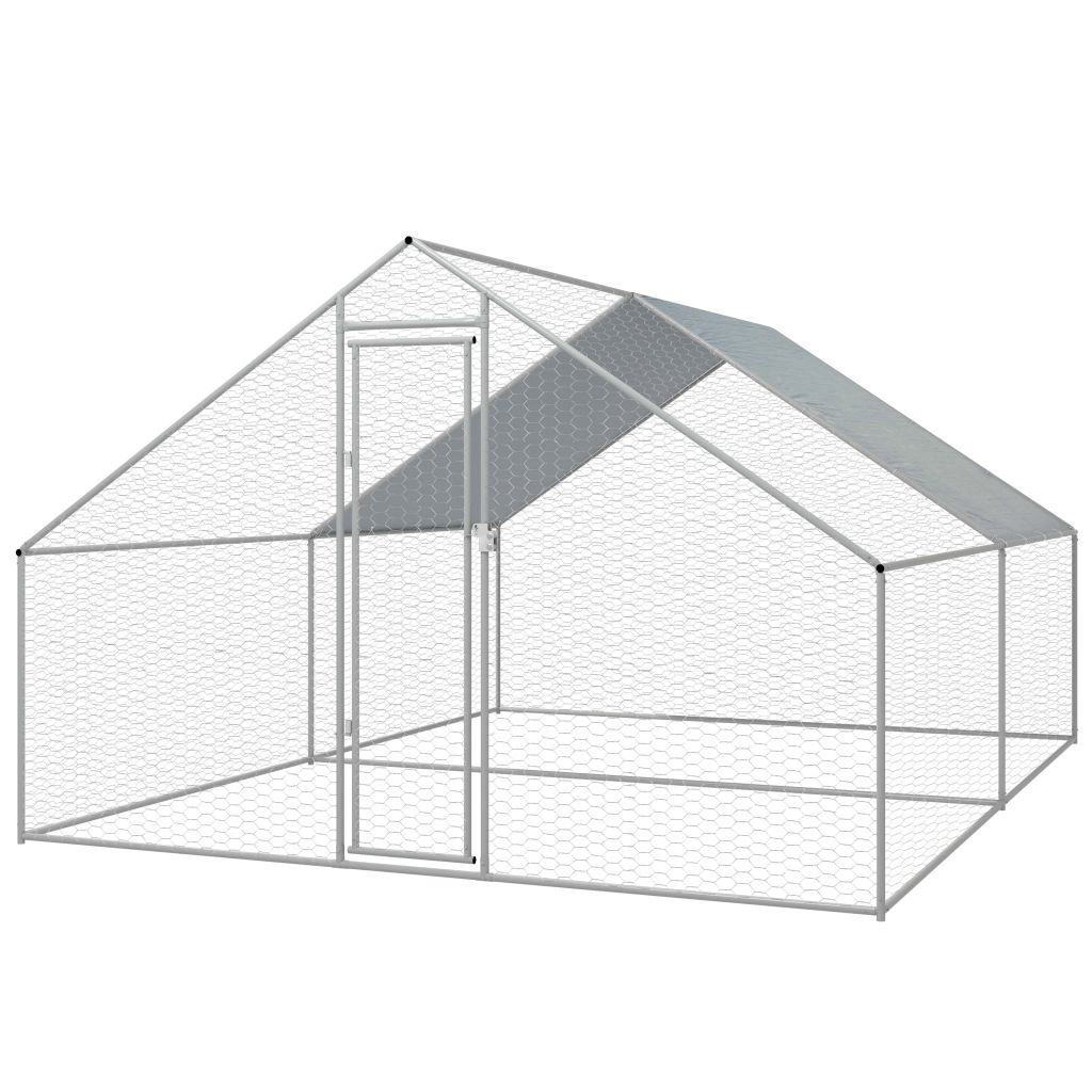 Picture of Outdoor Chicken Cage Galvanized Steel 910x131x66
