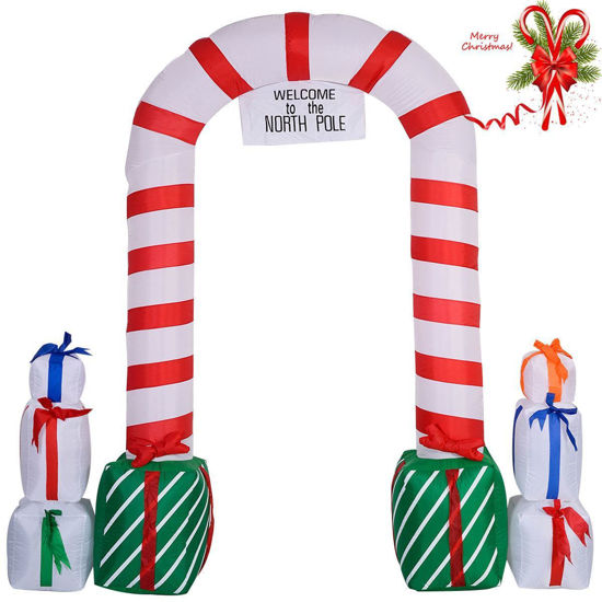 Picture of Outdoor Christmas Inflatable Santa Arch Waterproof 8 Ft