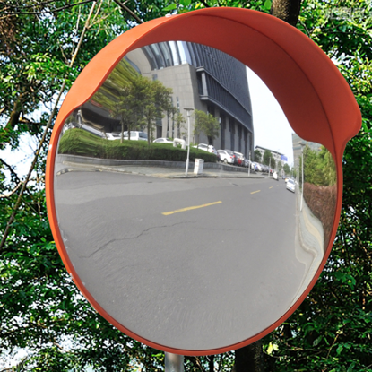 "Picture of Outdoor Convex Traffic Mirror PC Plastic - 18"" Orange"