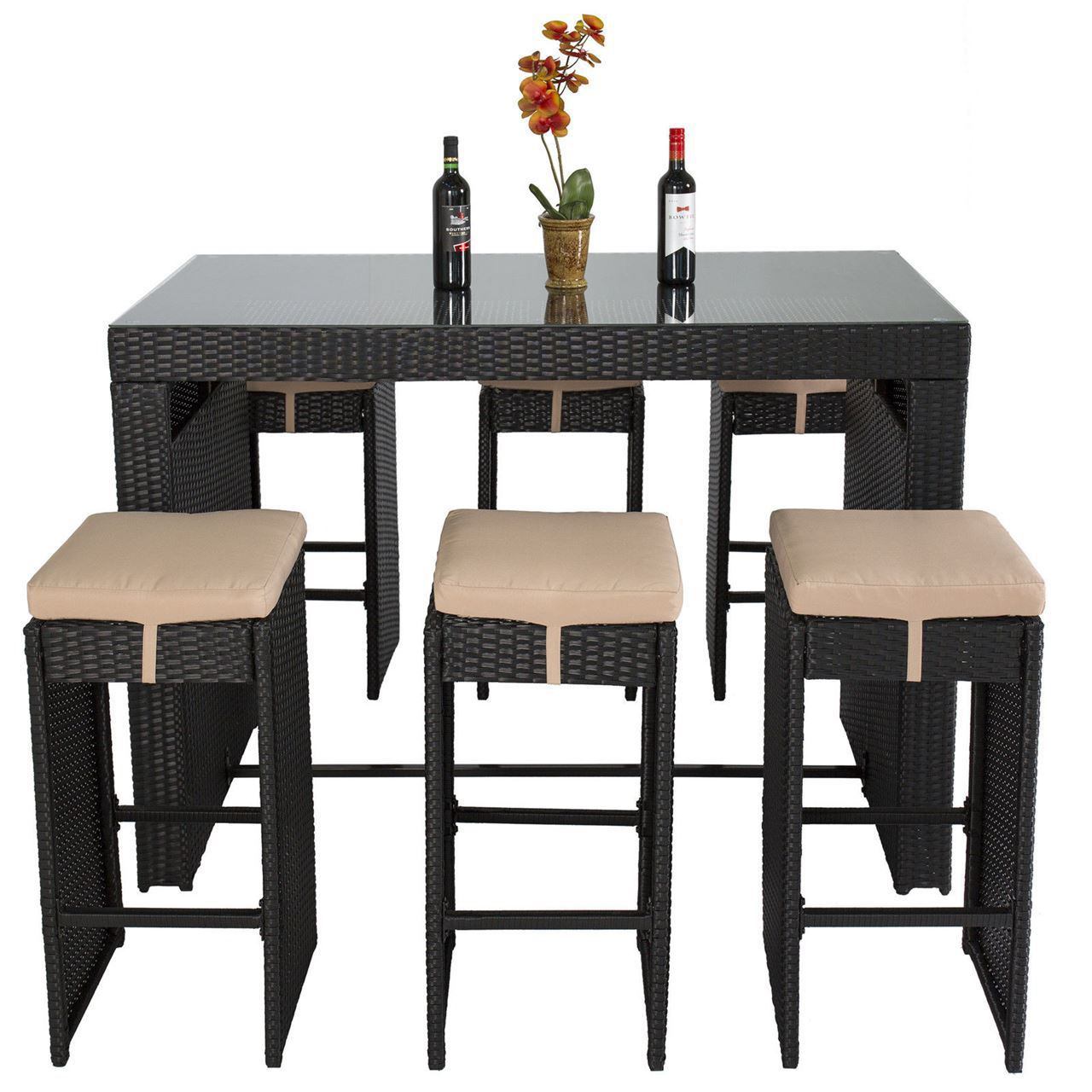 Picture of Outdoor Dining Set Bar - 7 pcs