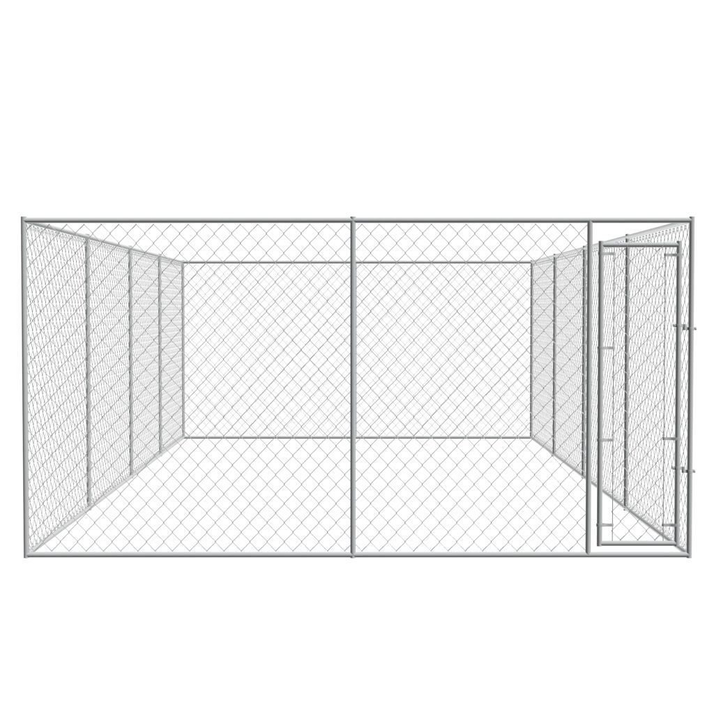 Picture of Outdoor Dog Kennel Galvanized Steel 25x13