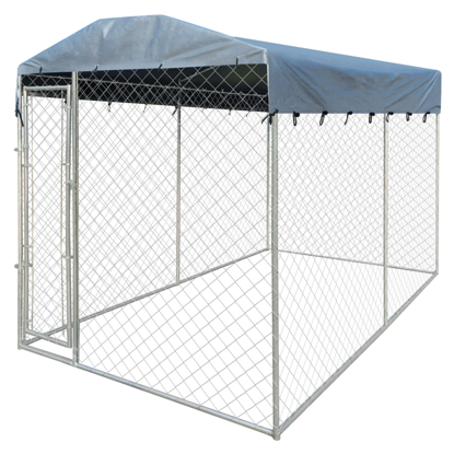 """Picture of Outdoor Dog Kennel with Canopy Top 79"""" x 158"""" x 93"""" Heavy-duty"""