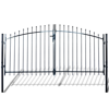 Picture of Outdoor Fence Double Door Gate with Spear Top 10' x 6'
