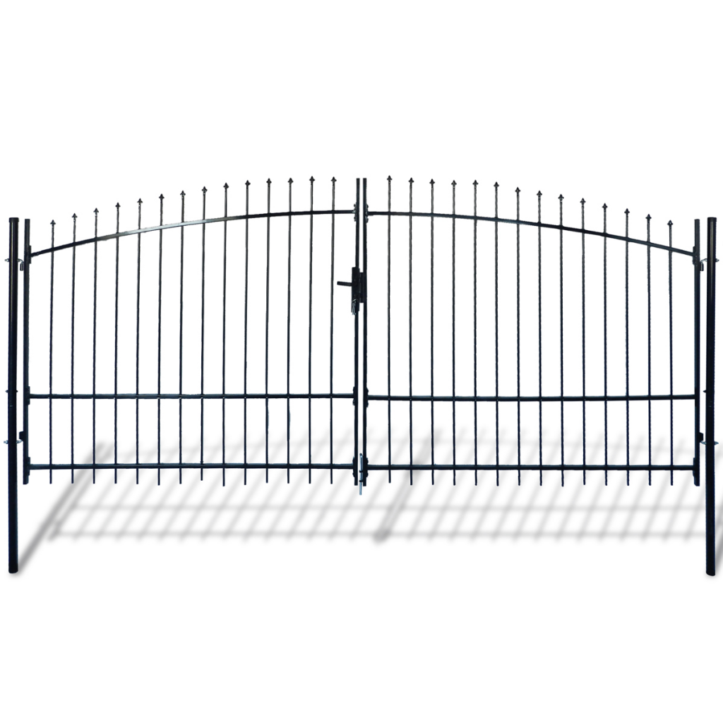 Picture of Outdoor Fence Double Door Gate with Spear Top 13' x 8'