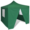 Picture of Outdoor Foldable Tent 10' x 10' with 4 Walls - Green