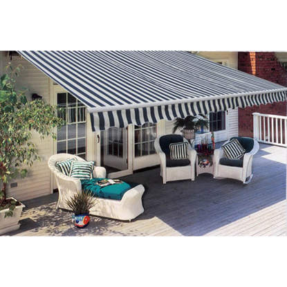 Picture of Outdoor Folding Awning 20' x 10' - Navy Blue & White