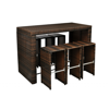 Picture of Outdoor Furniture Bar Set Poly Rattan - Brown