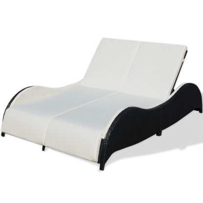 Picture of Outdoor Furniture Double Bed - Black