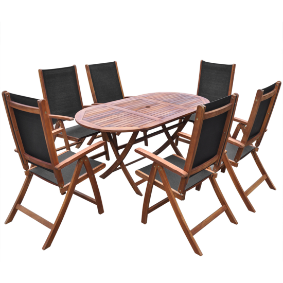Picture of Outdoor Furniture Folding Dining Set  7 pcs - Acacia Wood