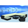 Picture of Outdoor Furniture Garden Lounge Seat Set PE Wicker Poly Rattan - Black 12 Pcs