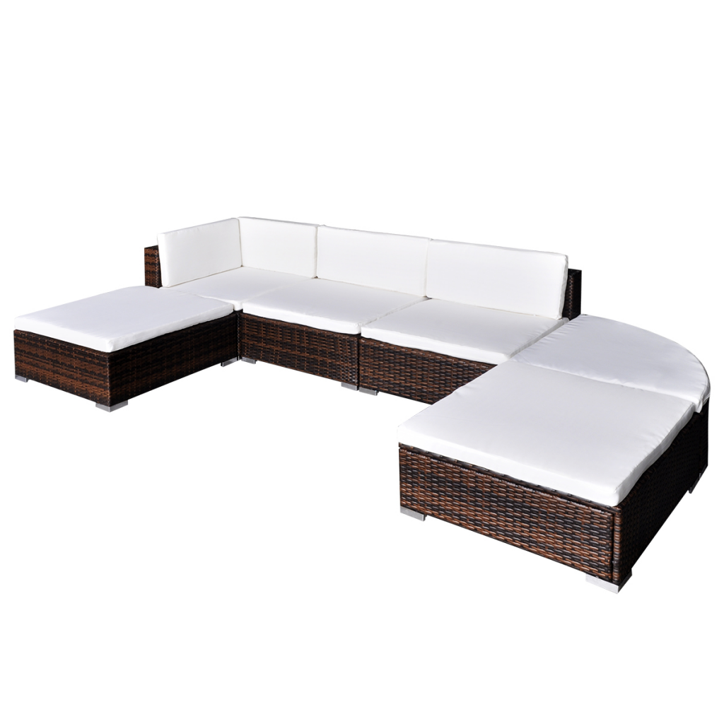 Picture of Outdoor Garden Lounge Set Poly Rattan - Brown 16 Piece