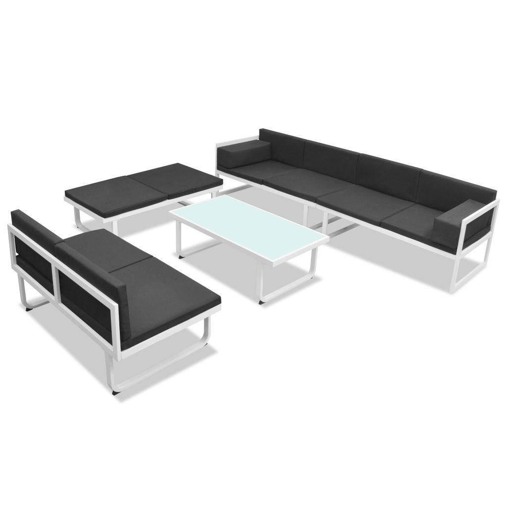 Picture of Outdoor Garden Sofa Set - Textiel Aluminum - Black and White