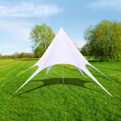 Picture of Outdoor Gazebo Hexagon Star Pavilion 33' - White