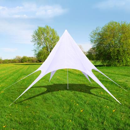 Picture of Outdoor Gazebo Hexagon Star Pavilion 39' - White