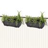 "Picture of Outdoor Hanging Rattan Planter Set 20""- 2 pcs Black"