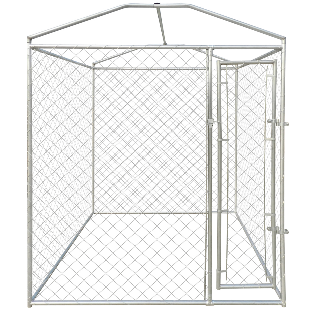 "Picture of Outdoor Heavy-duty Dog Kennel with Canopy Top 79"" x 79"" x 93"""