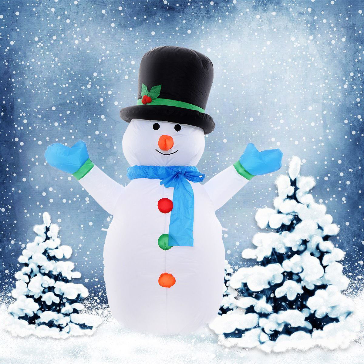 Picture of Outdoor Inflatable Christmas Snowman Decoration 4 Ft Air blown