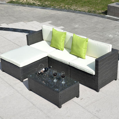 Picture of Outdoor Patio Sectional Furniture Set - 5 Pieces