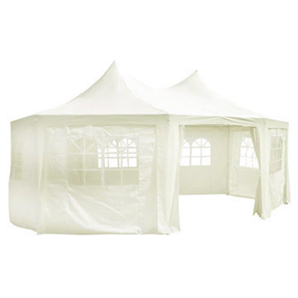Picture of Outdoor Octagonal Party Tent 20' x 15' x 12' - Cream White