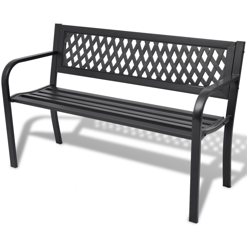 Picture of Outdoor Patio Bench Steel - Black