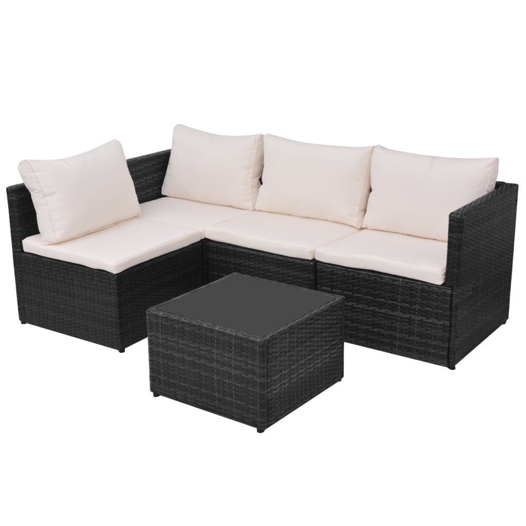 Picture of Outdoor Patio Rattan Set - 13 pcs Black