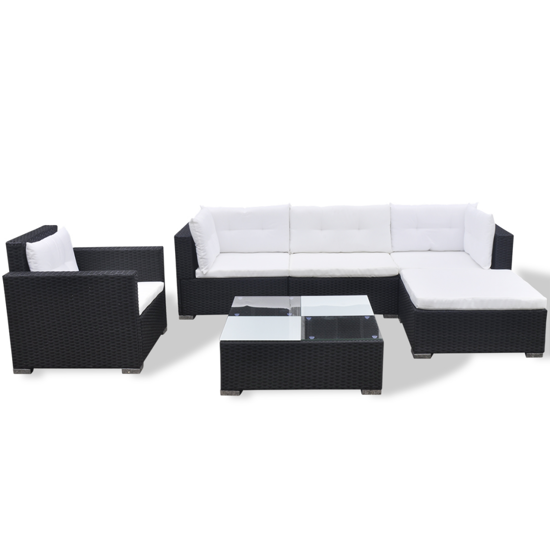Picture of Outdoor Poly Rattan Garden Sofa Set  - Black 17 Piece