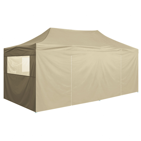 Picture of Outdoor Pop-Up Tent Gazebo Marquee with 4 Side Walls 19.7'x9.8' - Cream White