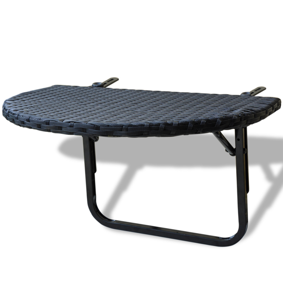 Picture of Outdoor Rattack Balcony Table - Black